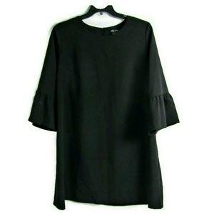 City Chic Black Plus Flirty Flute Sleeve Dress 22